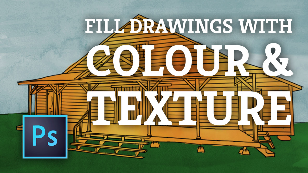 Photoshop: Fill Line Drawings with Texture & Patterns