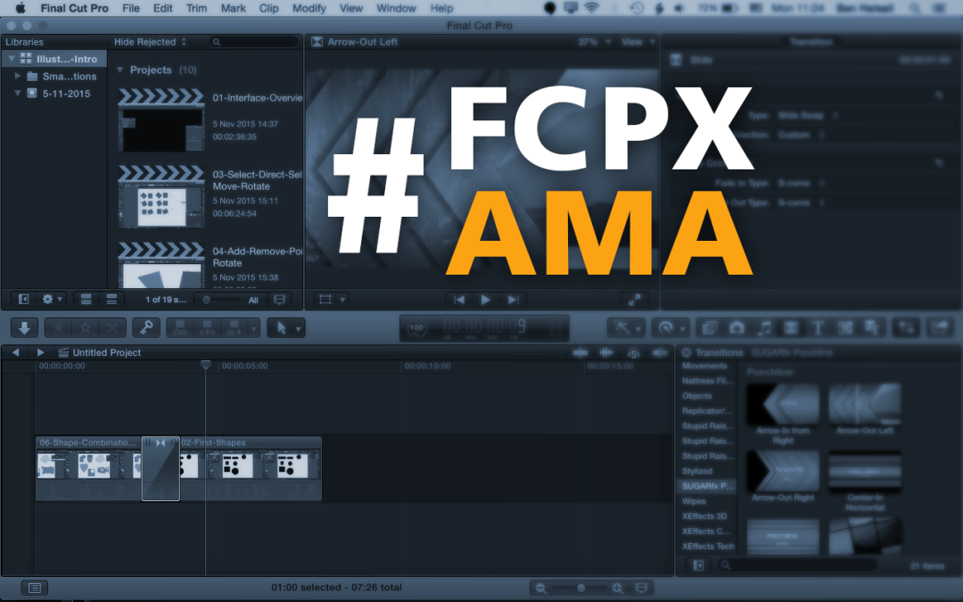 "Final Cut Pro X ""Ask Me Anything"" on 1st December 2015"