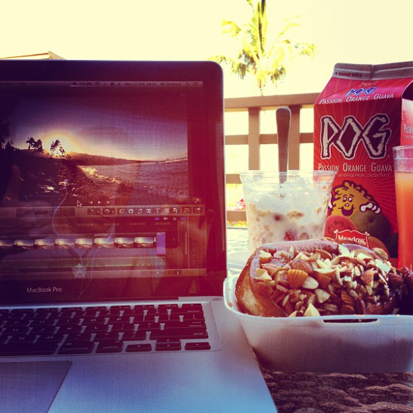 Final Cut Pro X in use in exotic locations via @bcorchard #maui #hawaii #videoediting #macbookpro