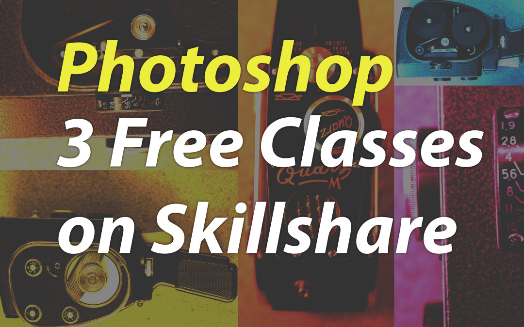 3 Free Photoshop CC Classes for beginners learning layers, type and colour
