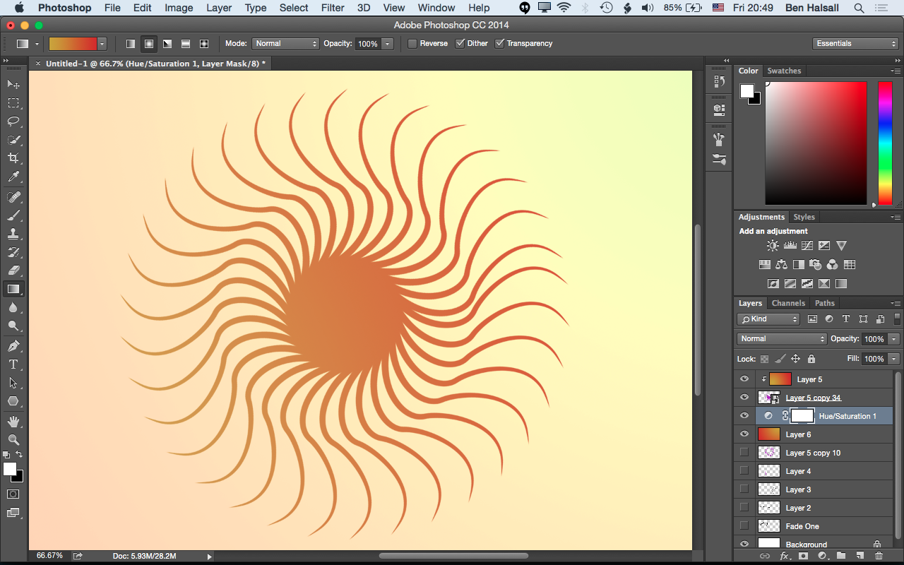 Photoshop: Tapered Brushes, Stroking Paths & Creating