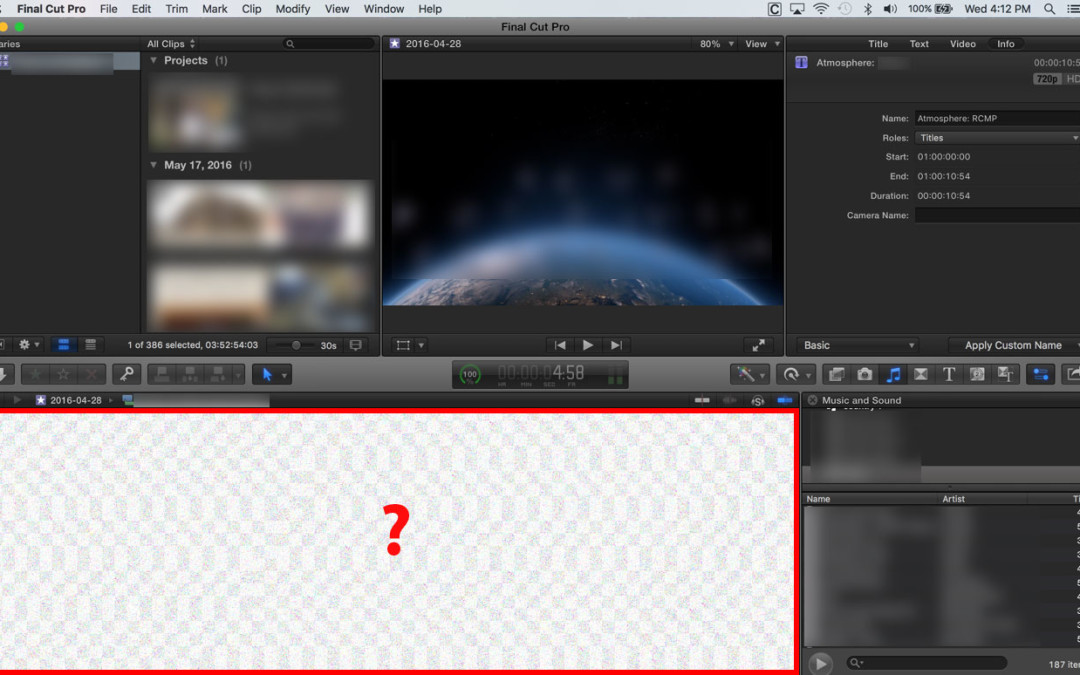 Final Cut Pro X broken timeline?!? Has anyone seen this? #FCPX #FCPXAMA