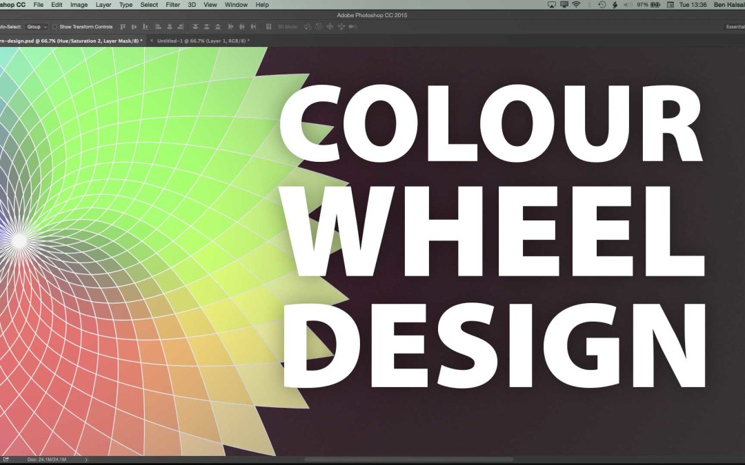 Photoshop: Circular Colour Pattern using Repeat & Blend Modes