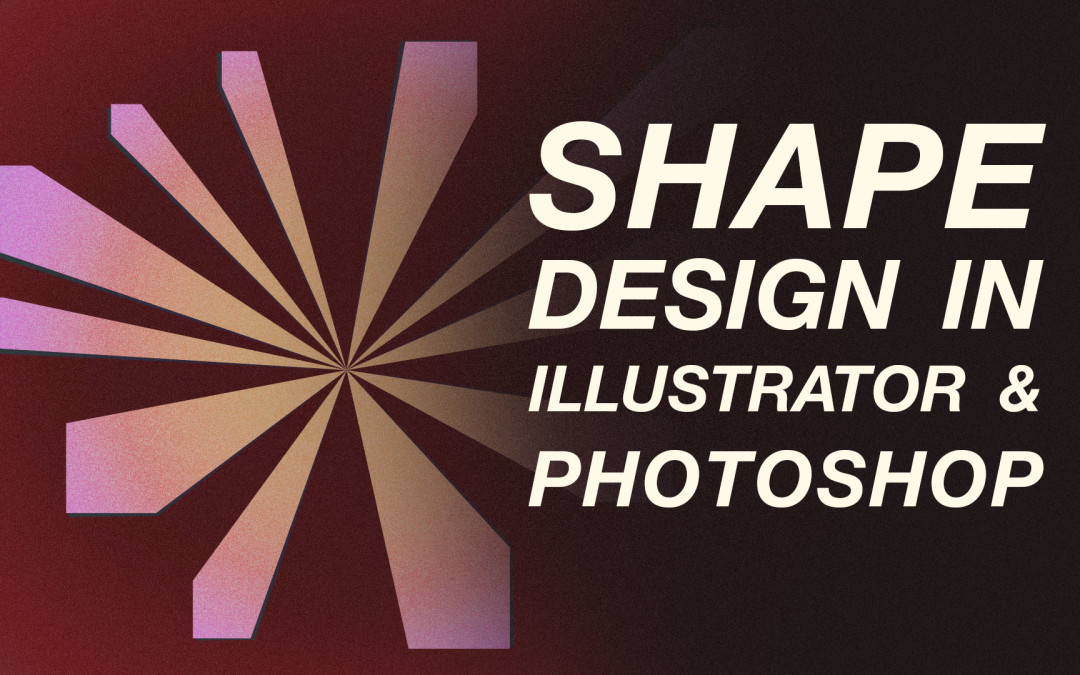 Illustrator & Photoshop: Retro Shape Design Using Shape, Alignment, Adjustment Layers & Noise #skillshare #freeclass #YQR