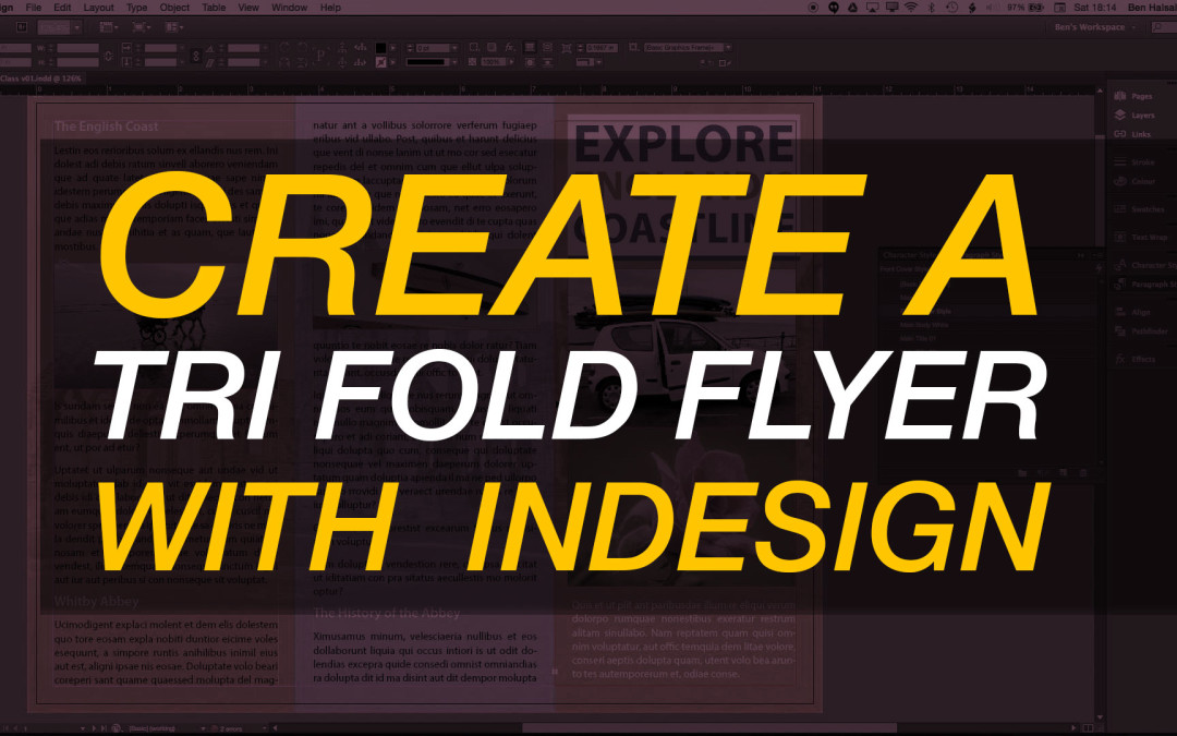 InDesign: Create a Trifold Flyer #adobeindesign @skillshare #indesign #yqr #yxe #yvr #yyc #yow #graphicdesign