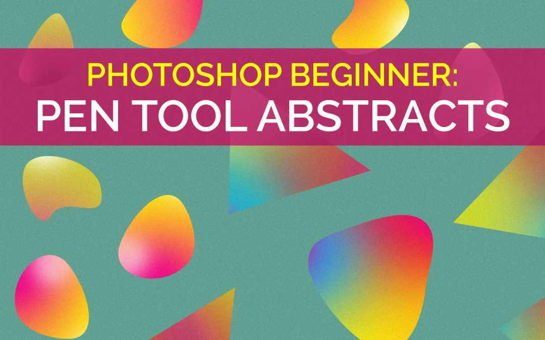 Photoshop Beginner: Learn the Pen Tool with this Abstract Shape Graphic Design Tutorial on @skillshare #YQR #YXE