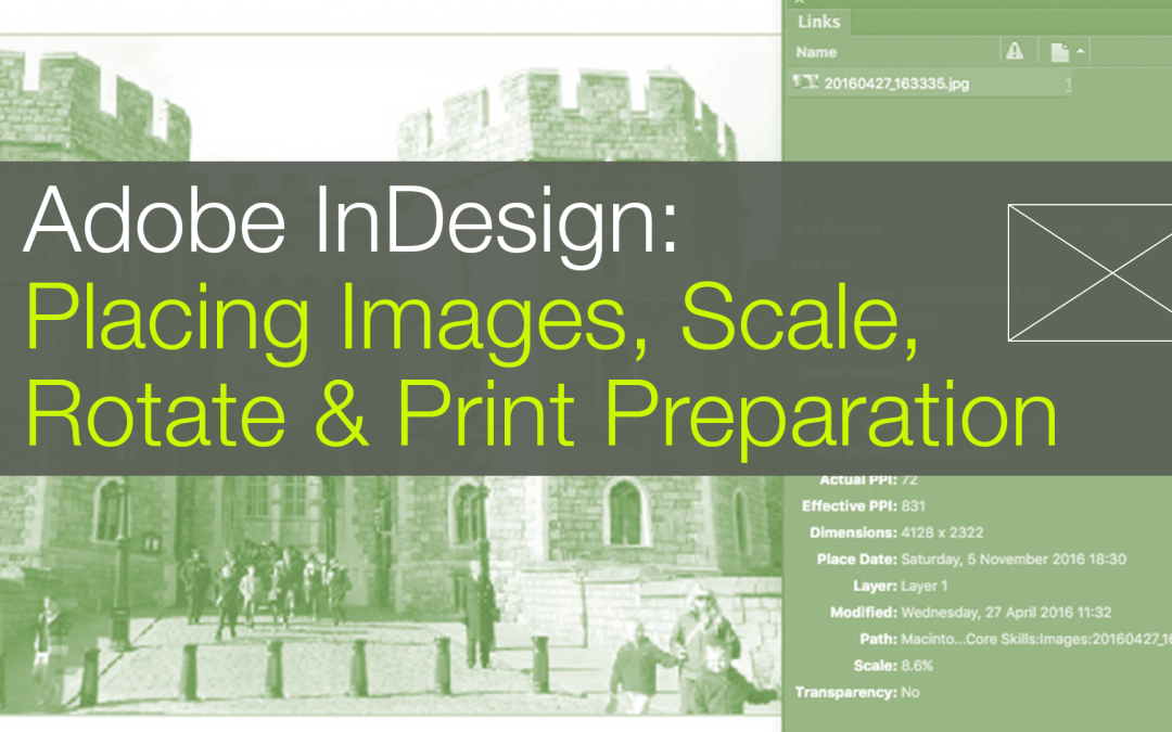 Adobe InDesign beginner tutorial covering image placement and 5 other free classes