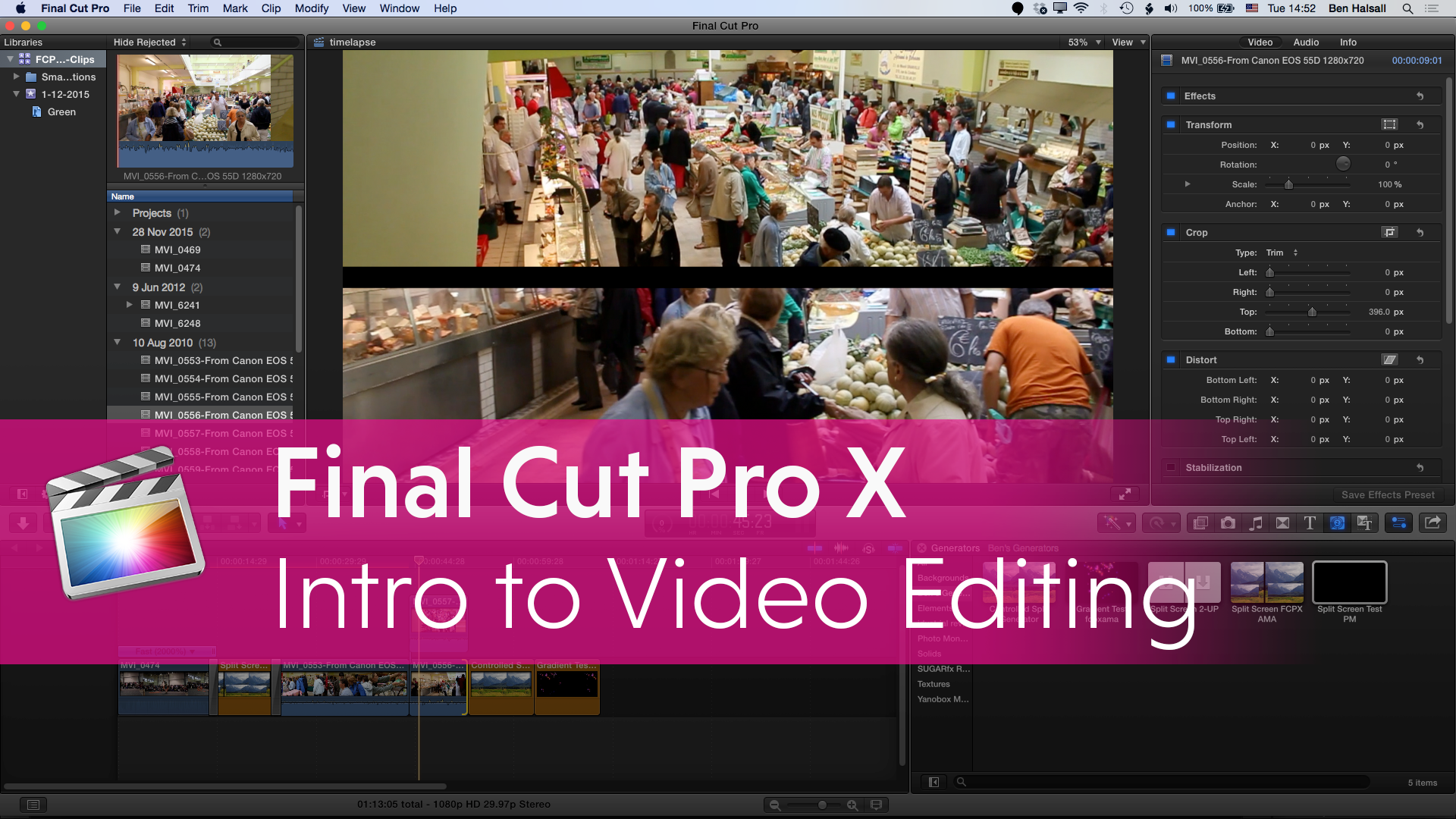 Final Cut Pro X Introduction To Editing Online Seminar 14th January 2016 Fcpx