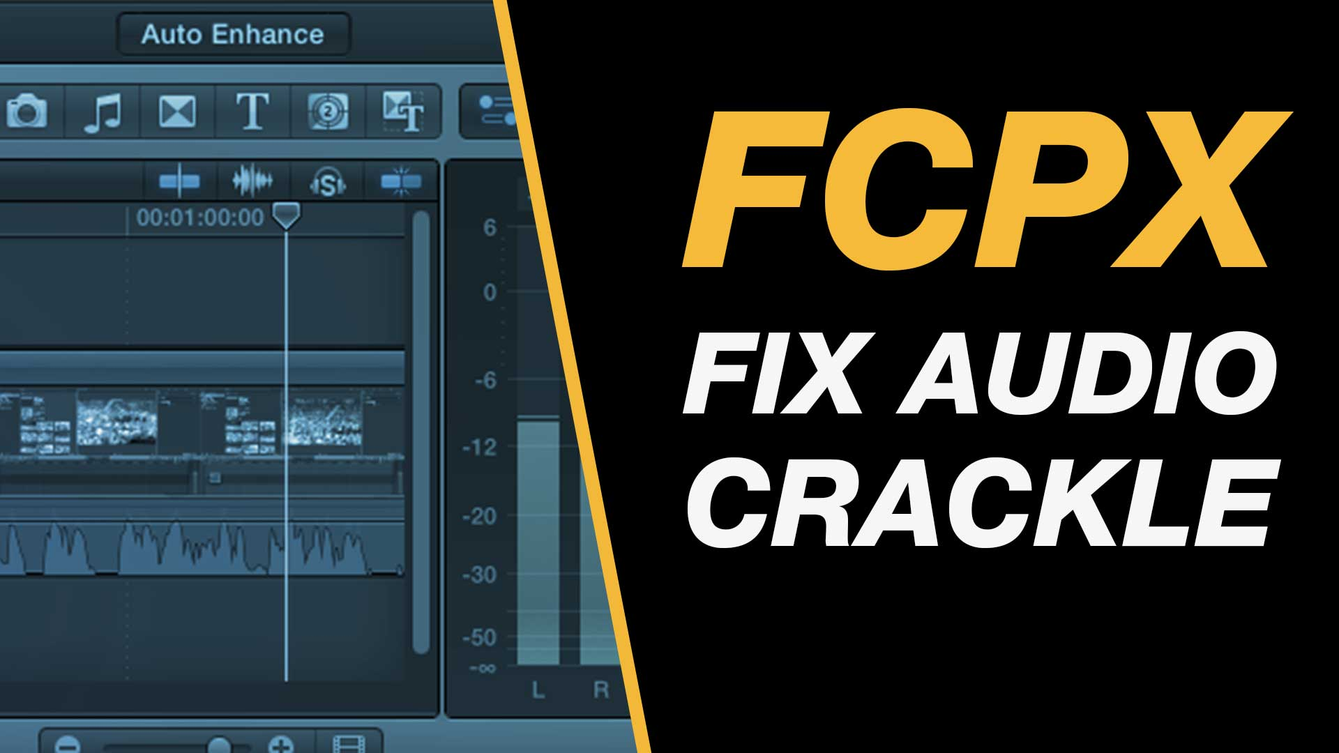A fix for audio crackle when editing in Final Cut Pro X via