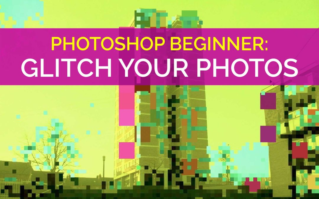 Create Glitch Effects in Photoshop with Selection, Resize & Colour Adjustment Tools on @skillshare #adobephotoshop #glitch