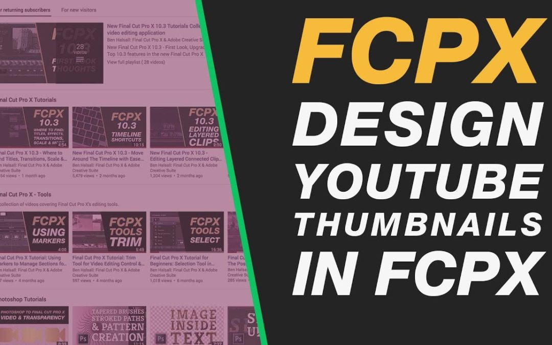 Final Cut Pro X: Design YouTube Thumbnails in FCPX Tutorial Class #fcpx #nyc #lax #lhr #yvr