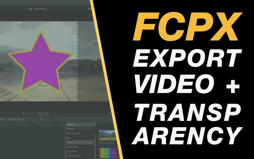 How to export video with a transparent background in Final Cut Pro X #fcpx #yow #yqr