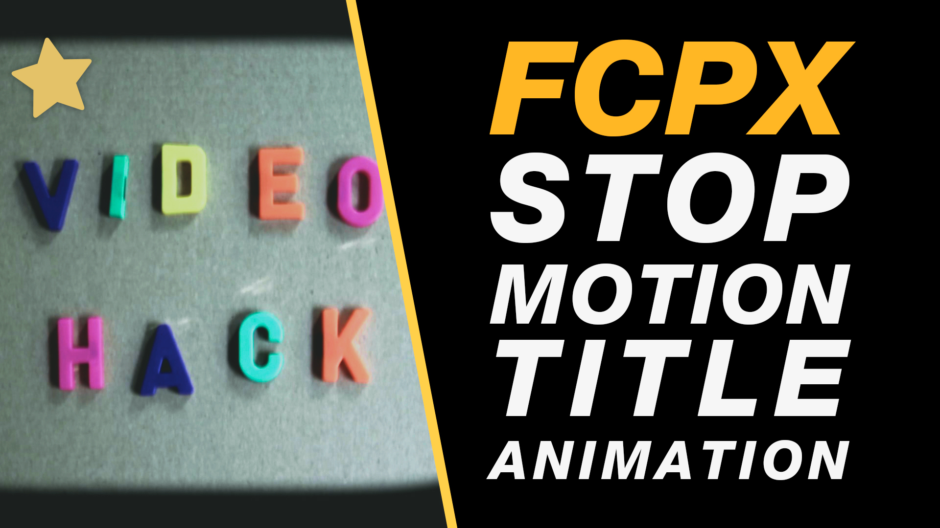 Free Final Cut Pro X Tutorial: Stop Motion Type Title