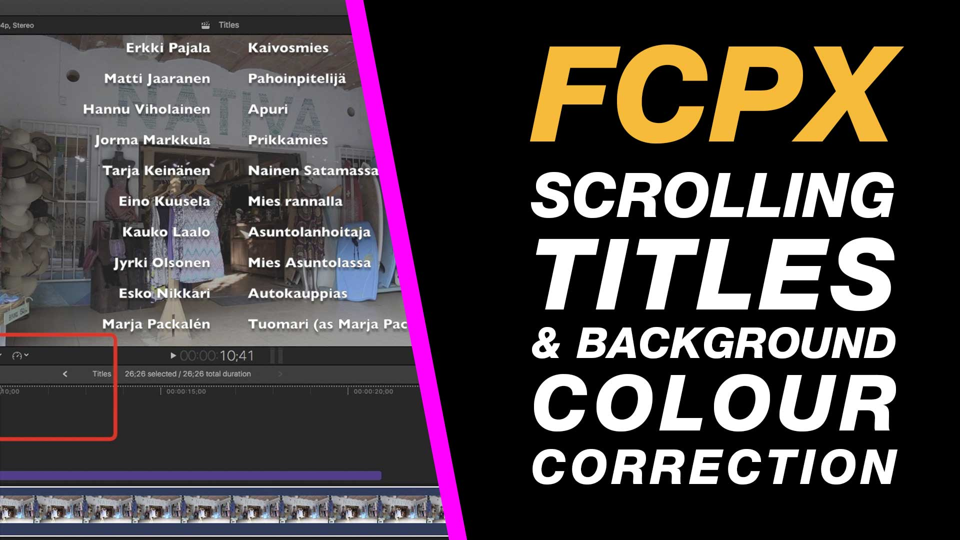 Final Cut Pro X: Create A Credit Roll (Scrolling Credits
