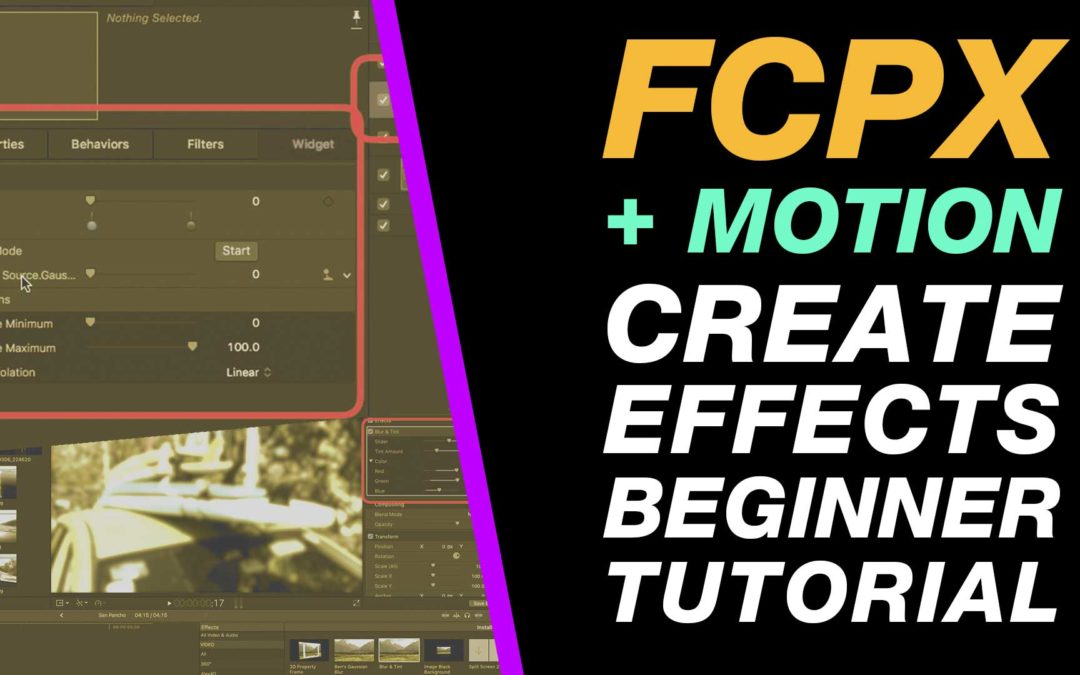 Motion & Final Cut Pro X: Create Free Plugin Effects Beginner Tutorial