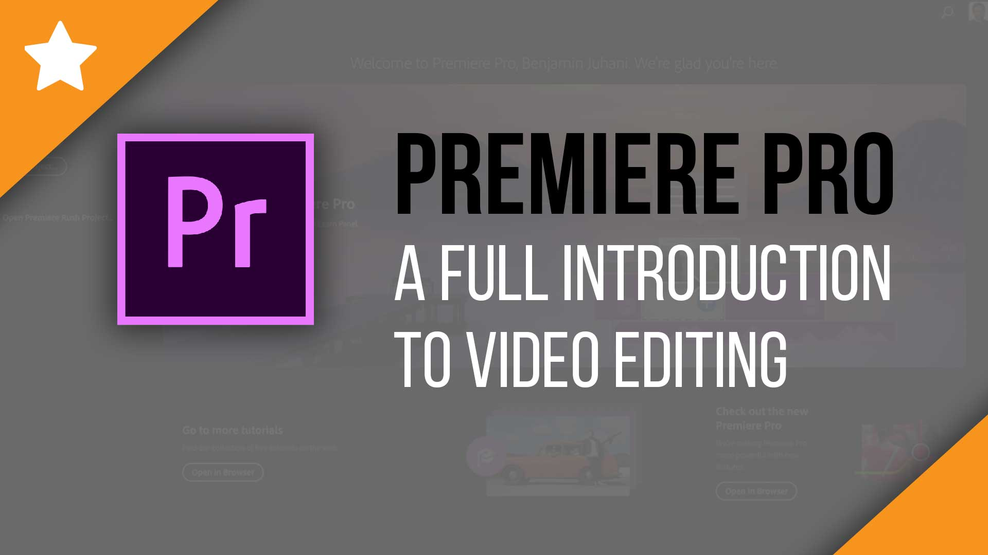 Introduction to Adobe Premiere Pro CC 2019 - Video Tutorial